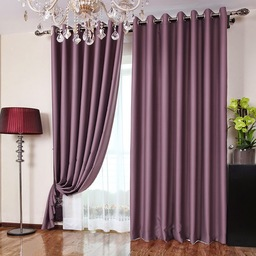 Thumb polyester fabric bedroom romantic purple blackout curtains two panels td0005